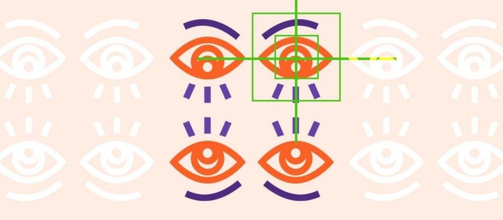 Website Usability & Eye Tracking Tests Illustration