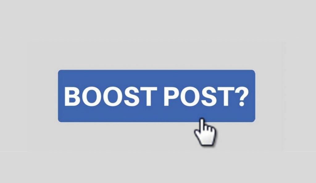 Facebook marketing post boosting