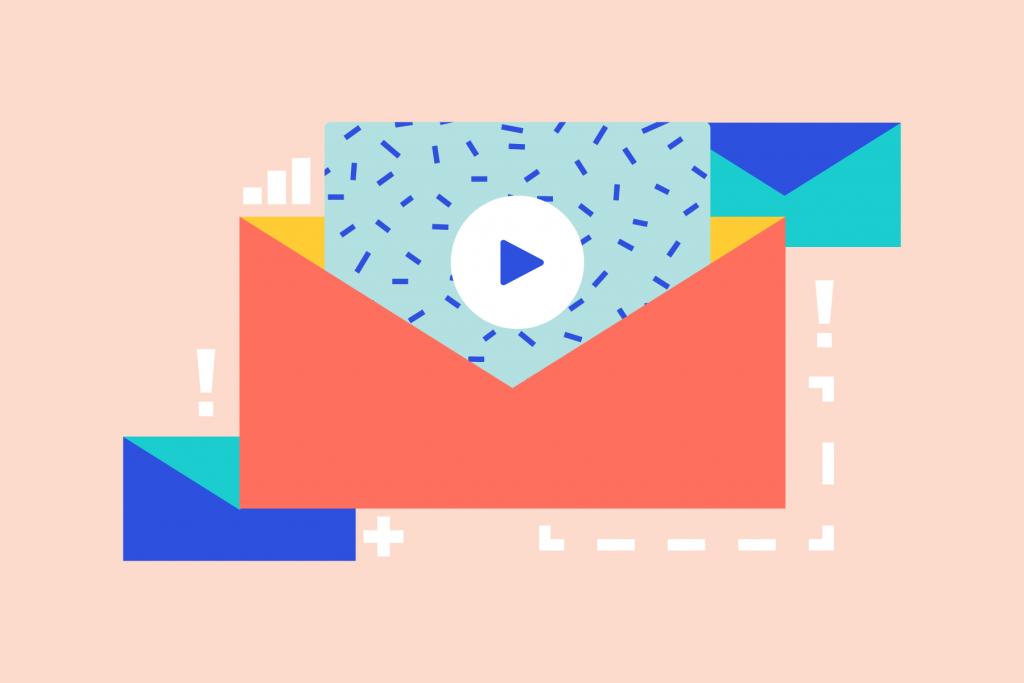 Digital marketing via email abstract illustration.